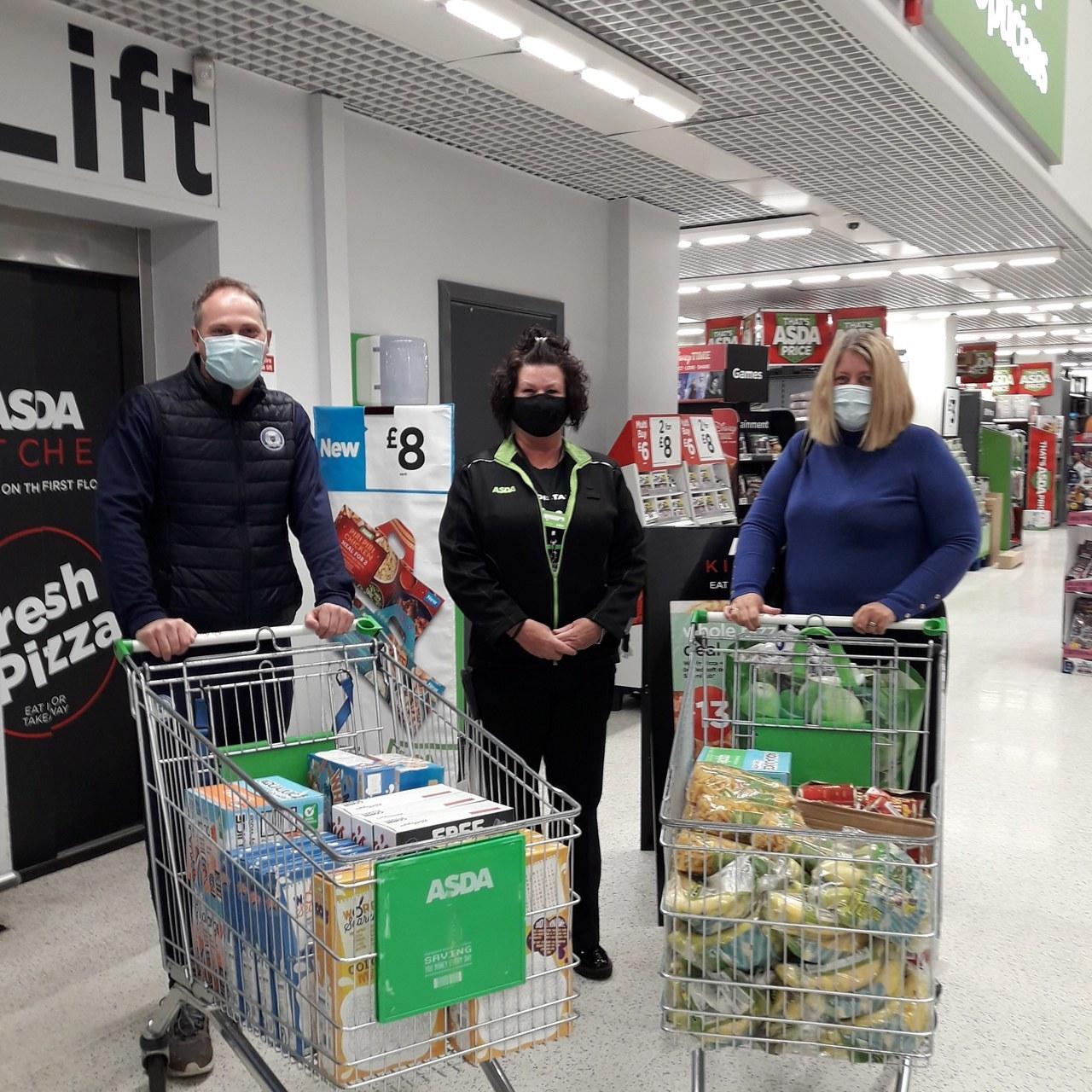 Peterborough UTD foundation receiving food donation for vulnerable families | Asda Peterborough