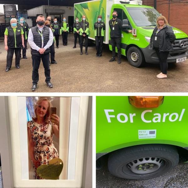 Asda Middlesbrough delivery van named after Carol Williamson