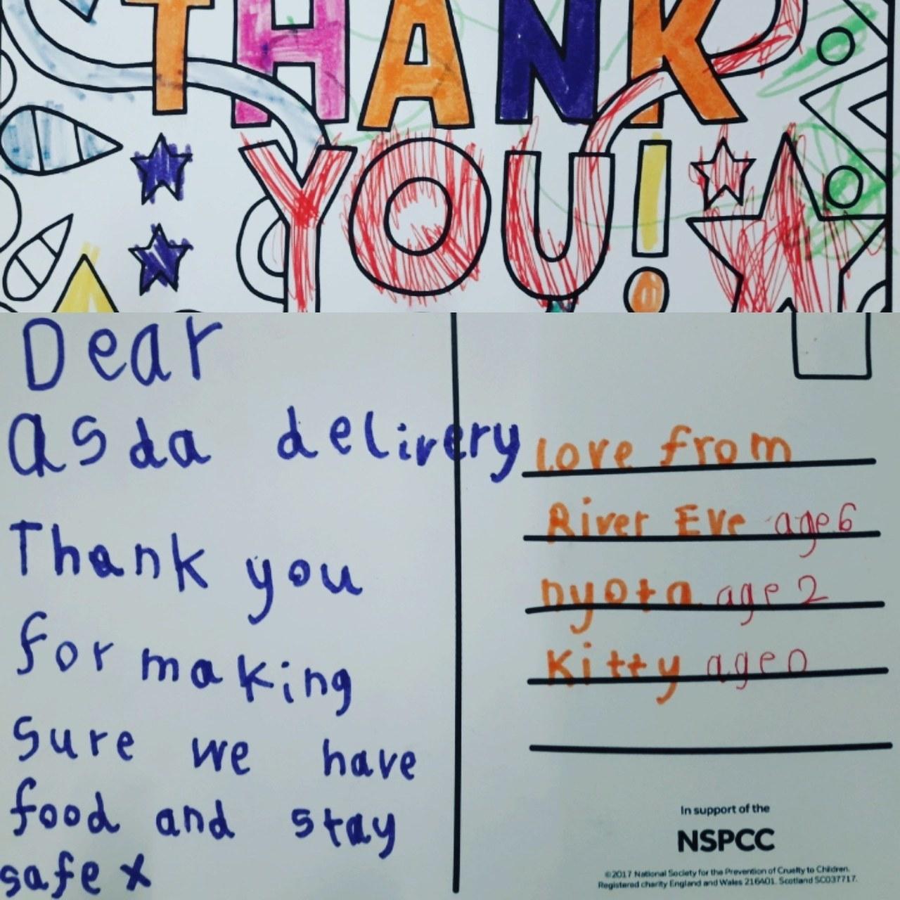Thank you card | Asda Barnstaple