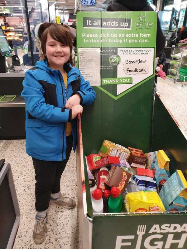 Lucas Waddell supports Bassetlaw Foodbank at Asda Worksop