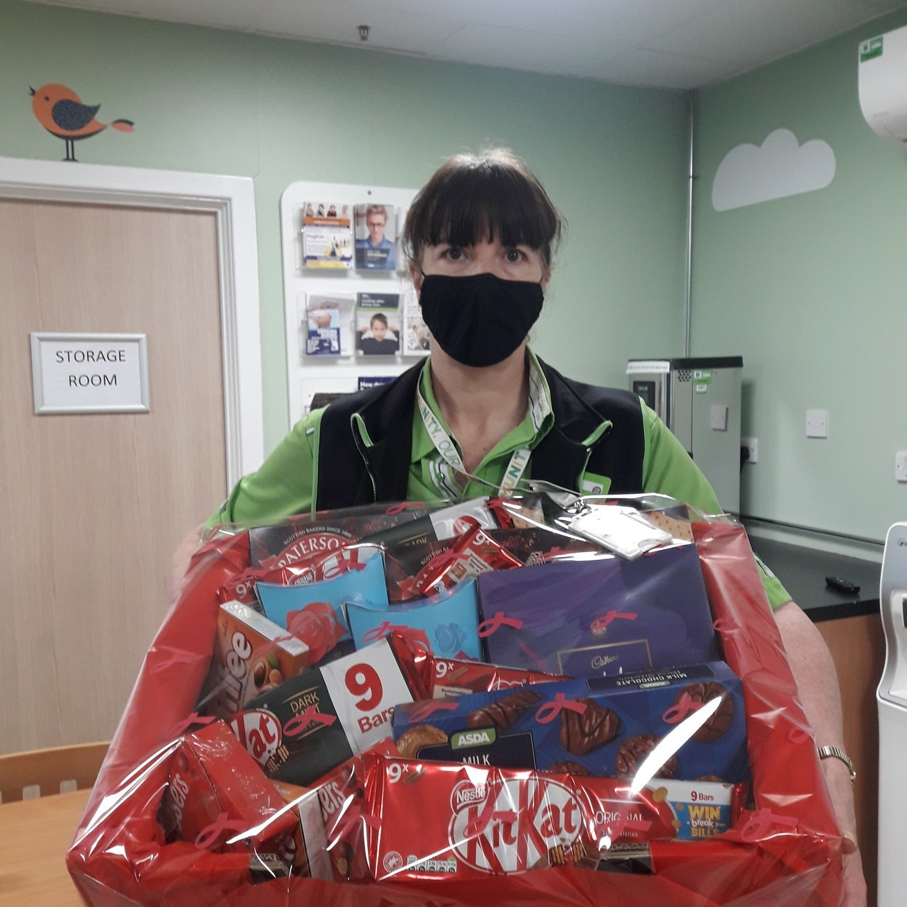 Donation of a hamper for the residents to Albert House residential home | Asda Colne