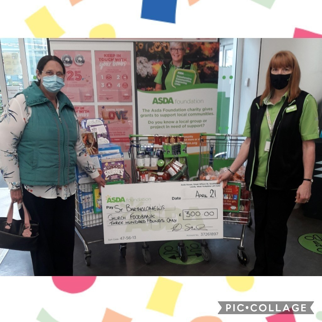 Church foodbank grant for £300  | Asda Colne