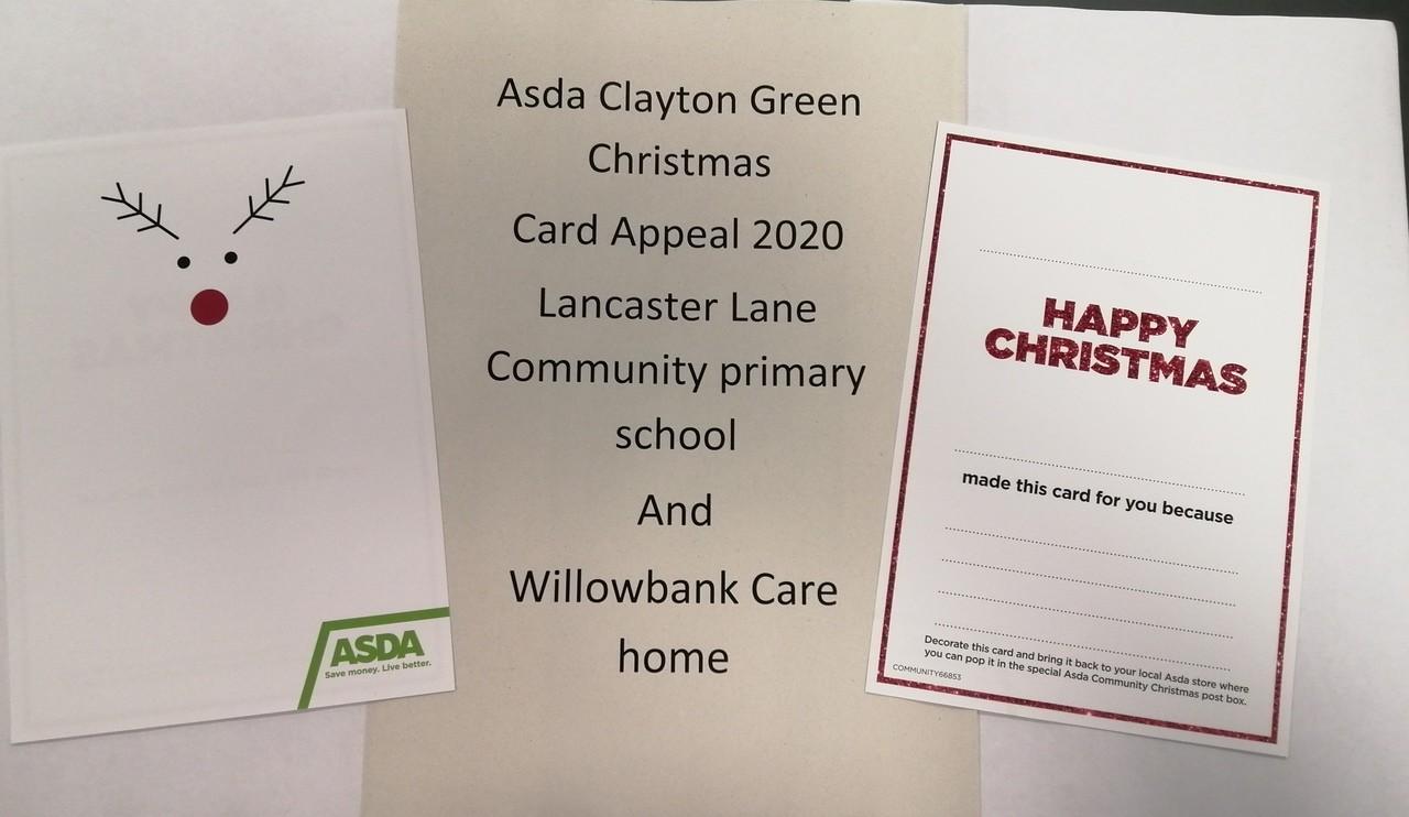 Asda Clayton Green Christmas card appeal   Asda Clayton Green