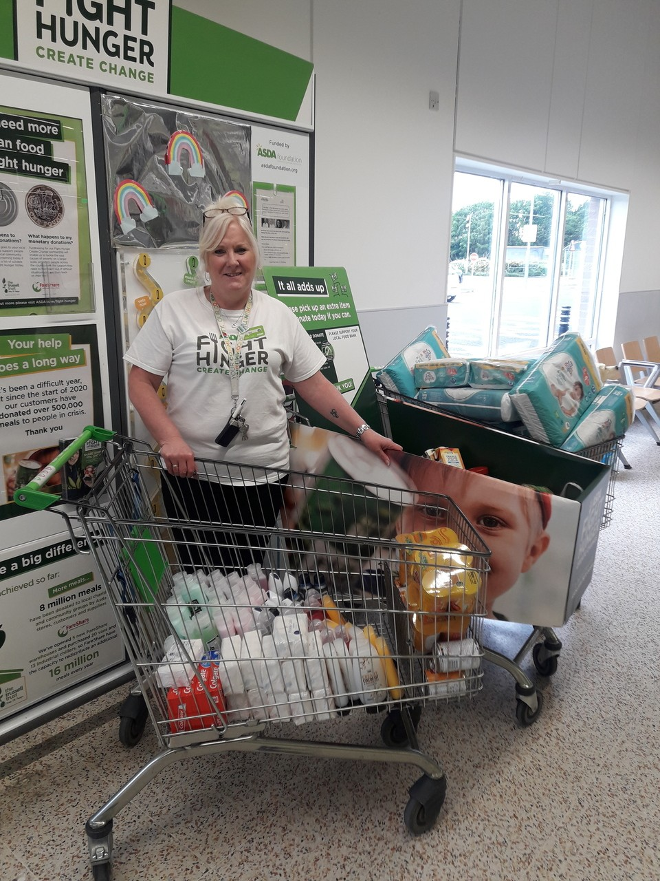 Customer foodbank donations and Asda top up | Asda Barrow