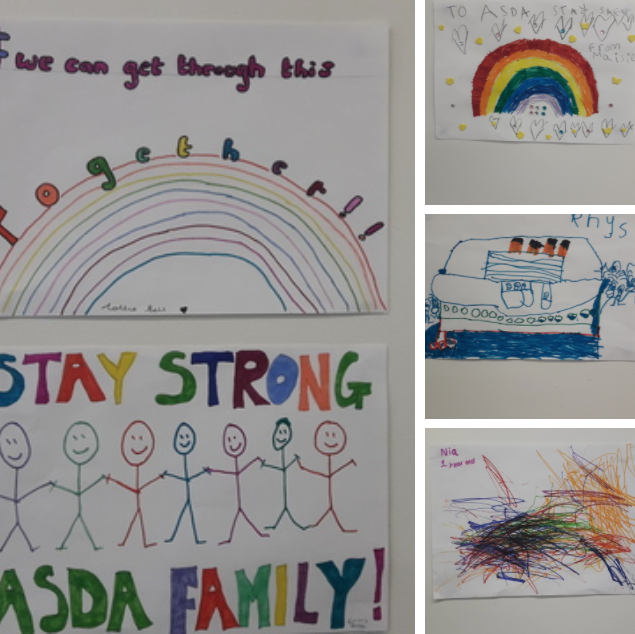 Thank you drawings mean so much to all at Asda Wrexham | Asda Wrexham