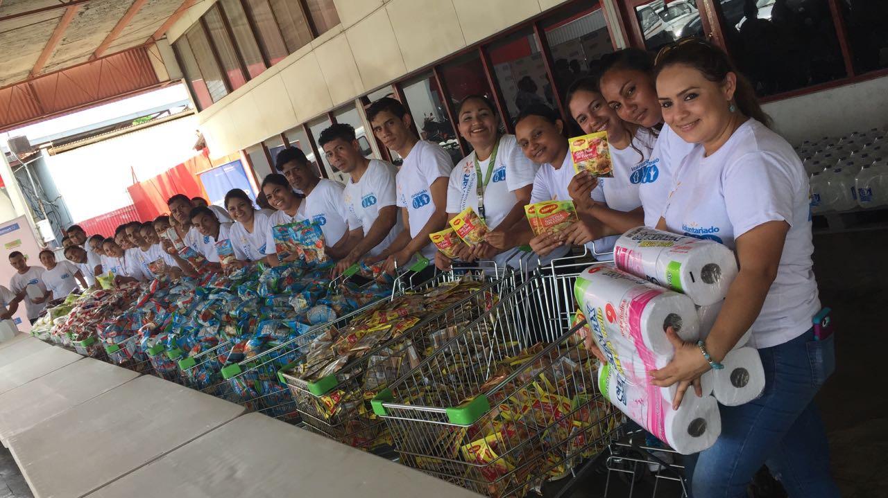 Entrega de donativo Nicaragua por lluvias