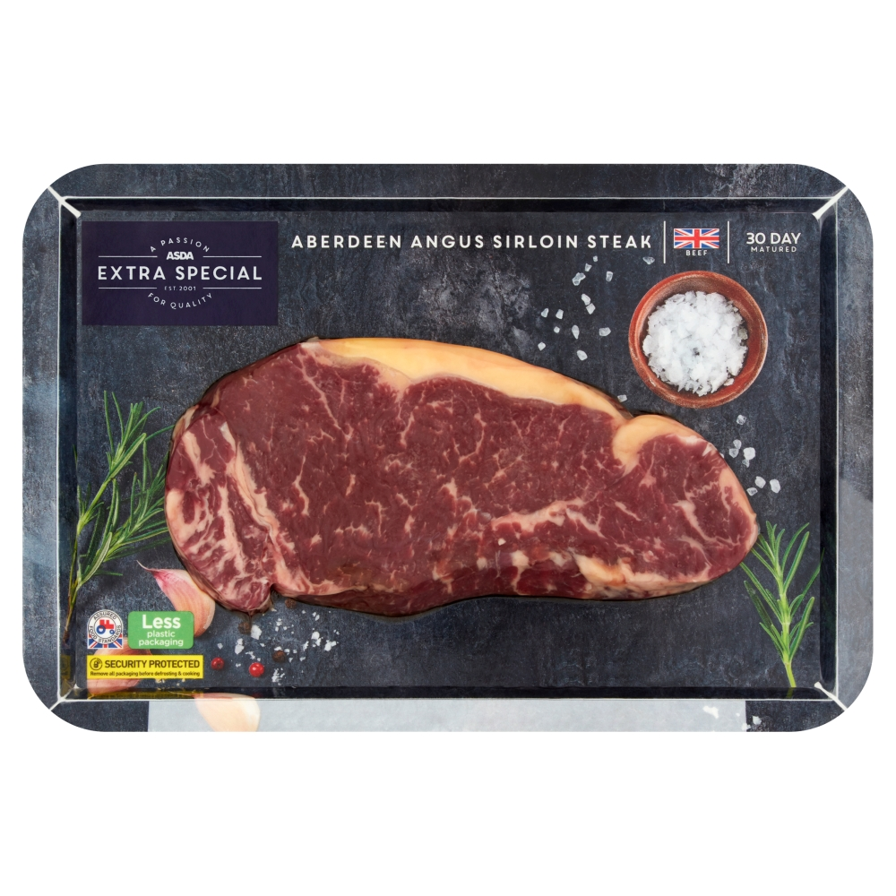 Asda recyclable steak packaging